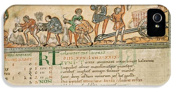 Haymaking In June, Anglo-saxon Calendar IPhone 5 Case