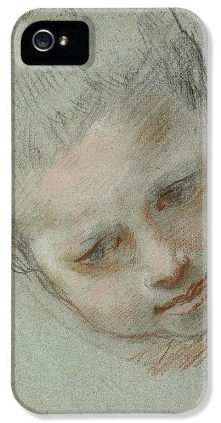 Head Of A Boy Recto,  Figure Studies Verso Federico Barocci IPhone 5 Case by Litz Collection