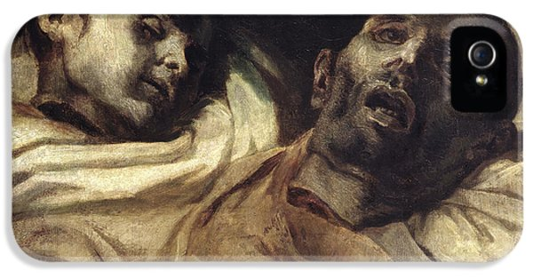 Heads Of Torture Victims, Study For The Raft Of The Medusa  IPhone 5 Case by Theodore Gericault