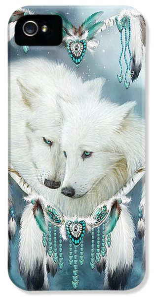 Heart Of A Wolf IPhone 5 Case by Carol Cavalaris