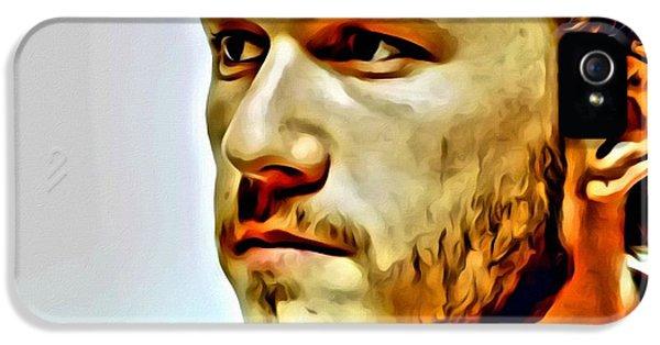 Heath Ledger Portrait IPhone 5 / 5s Case by Florian Rodarte