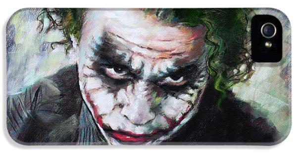 Heath Ledger The Dark Knight IPhone 5 / 5s Case by Viola El