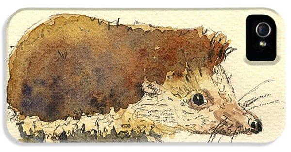 Mice iPhone 5 Case - Hedgehog by Juan  Bosco