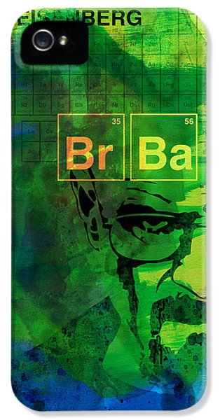 Heisenberg Watercolor IPhone 5 Case by Naxart Studio