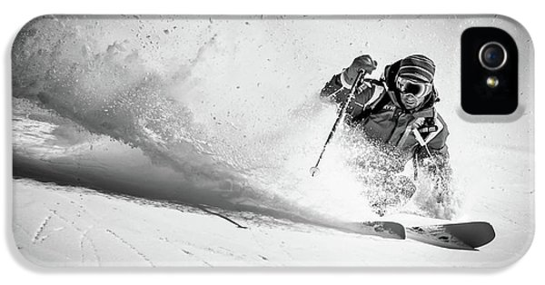 French iPhone 5 Case - Henri Making A Powder Turn... by Eric Verbiest