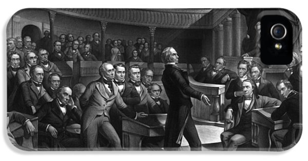Henry Clay Speaking In The Senate IPhone 5 Case by War Is Hell Store
