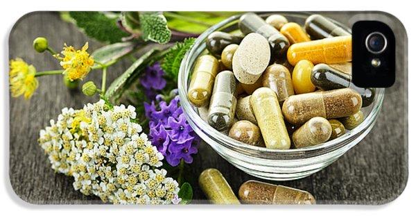 Herbal Medicine And Herbs IPhone 5 Case by Elena Elisseeva