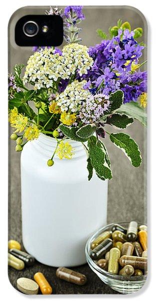 Herbal Medicine And Plants IPhone 5 Case by Elena Elisseeva
