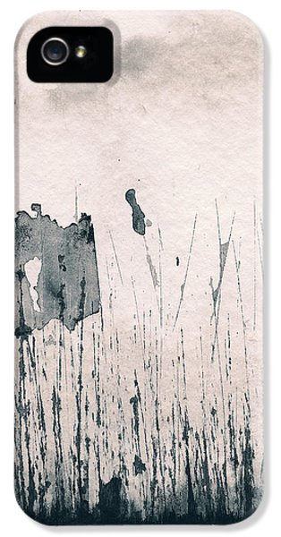 IPhone 5 Case featuring the painting Herbes Souillees by Marc Philippe Joly