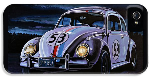 Herbie The Love Bug Painting IPhone 5 Case by Paul Meijering