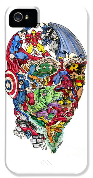 Surrealism iPhone 5 Case - Heroic Mind by John Ashton Golden
