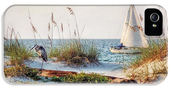 Heron And Sailboat IPhone 5 Case by Michael Thomas
