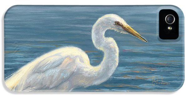 Heron iPhone 5 Case - Heron Light by Lucie Bilodeau