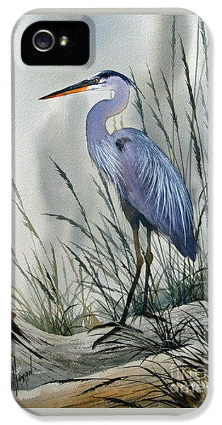 Heron iPhone 5 Case - Herons Sheltered Retreat by James Williamson