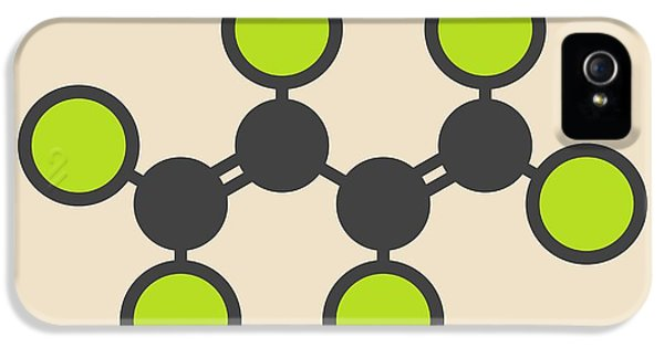 Toxicity iPhone 5 Case - Hexachlorobutadiene Solvent Molecule by Molekuul