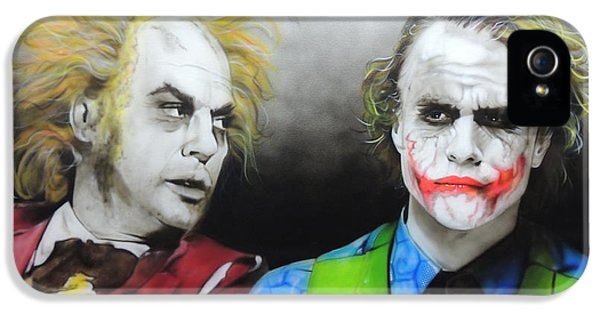 Health Ledger - ' Hey Why So Serious? ' IPhone 5 Case by Christian Chapman Art