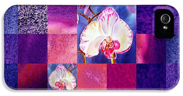 Hidden Orchids Squared Abstract Design IPhone 5 Case by Irina Sztukowski