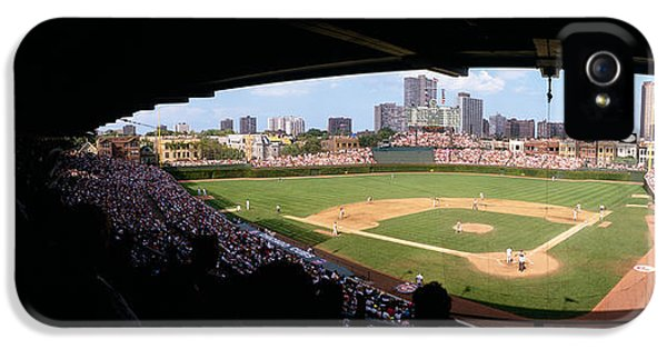 High Angle View Of A Baseball Stadium IPhone 5 / 5s Case by Panoramic Images