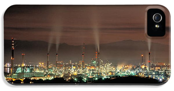 High Angle View Of Oil Refinery At Lit IPhone 5 Case