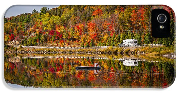 Highway Through Fall Forest IPhone 5 Case by Elena Elisseeva