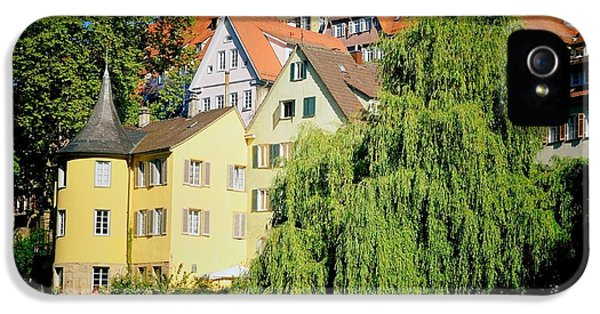 House iPhone 5 Case - Hoelderlin Tower In Lovely Tuebingen Germany by Matthias Hauser