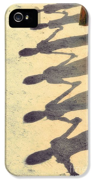 Holding Hands IPhone 5 Case by Tim Gainey