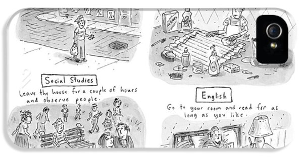 'home Schooling' IPhone 5 Case by Roz Chast