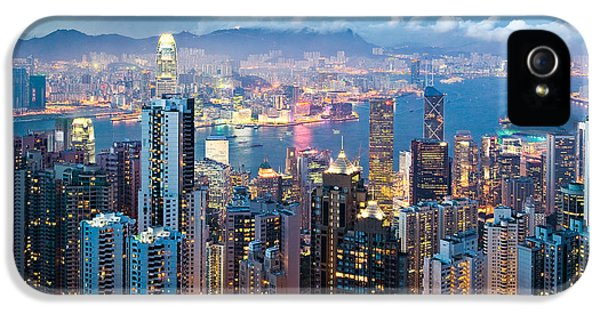 Hong Kong At Dusk IPhone 5 Case by Dave Bowman
