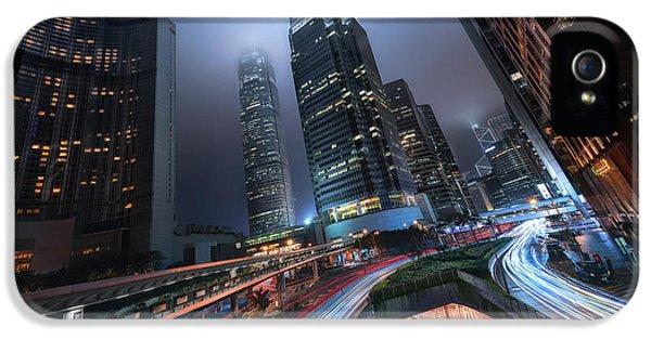 Hong Kong iPhone 5 Case - Hong Kong City Lights by Jes?s M. Garc?a