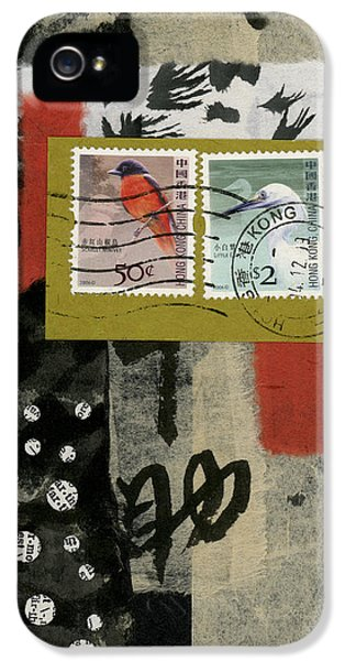 Hong Kong Postage Collage IPhone 5 Case by Carol Leigh
