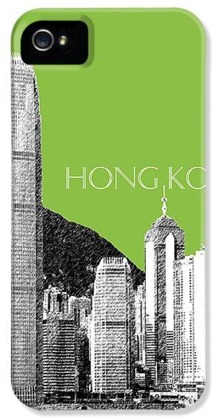 Hong Kong iPhone 5 Case - Hong Kong Skyline 1 - Olive by DB Artist