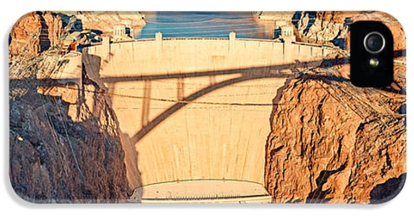 Hoover Dam From Bridge, Lake Mead IPhone 5 Case by Panoramic Images
