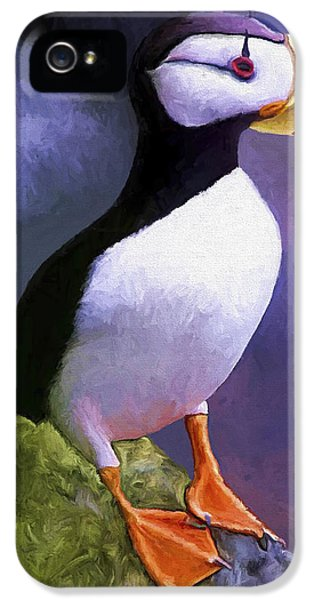 Horned Puffin IPhone 5 / 5s Case by David Wagner
