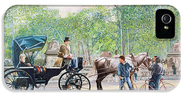 Horse And Carriage IPhone 5 Case by Anthony Butera