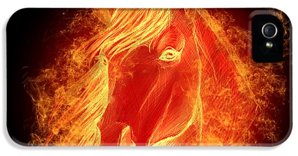 Horse On Fire  IPhone 5 Case by Mark Ashkenazi