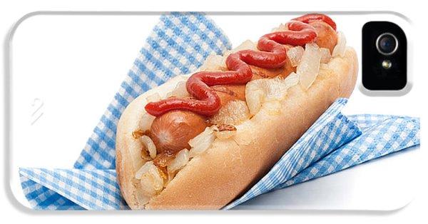 Hotdog In Napkin IPhone 5 Case by Amanda Elwell