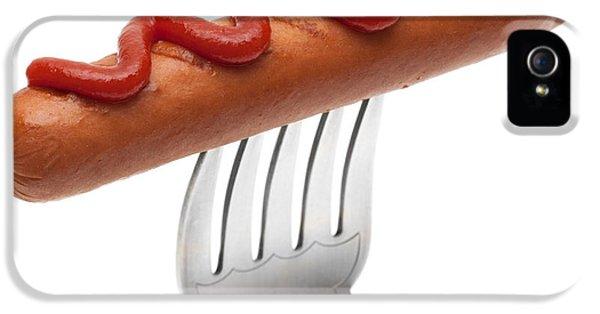 Hotdog Sausage On Fork IPhone 5 Case by Amanda Elwell