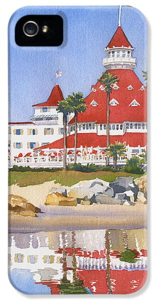 Pacific Ocean iPhone 5 Case - Hotel Del Coronado Reflected by Mary Helmreich