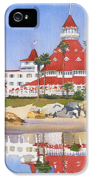 Hotel Del Coronado Reflected IPhone 5 Case by Mary Helmreich