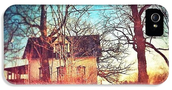 House iPhone 5 Case - #house #home #old #farm #abandoned by Jill Battaglia