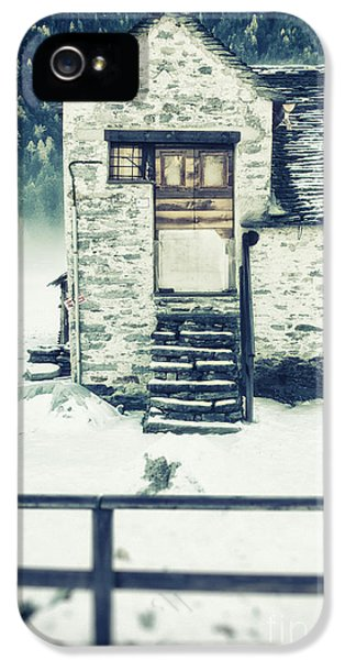 House Near The Wood IPhone 5 Case by Silvia Ganora