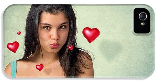 Hovering Hearts IPhone 5 Case by Carlos Caetano