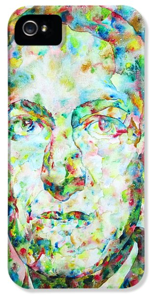 H.p. Lovecraft Watercolor Portrait IPhone 5 Case