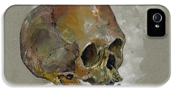 Human Skull Study IPhone 5 Case by Juan  Bosco