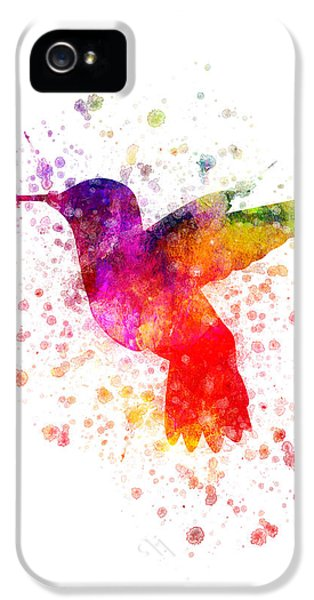 Hummingbird In Color IPhone 5 Case by Aged Pixel