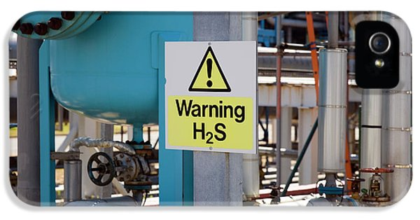 Toxicity iPhone 5 Case - Hydrogen Sulfide Warning Sign by Paul Rapson/science Photo Library