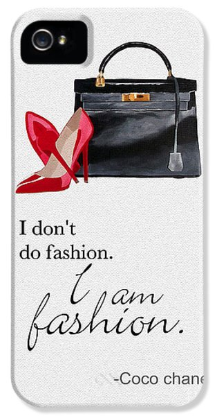 I Am Fashion IPhone 5 Case by Rebecca Jenkins