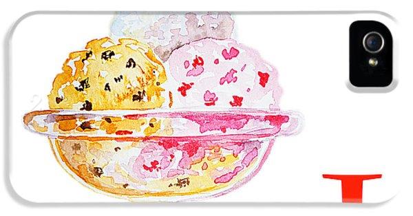 I Art Alphabet For Kids Room IPhone 5 Case by Irina Sztukowski