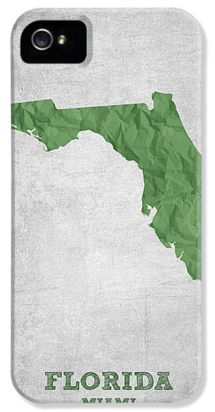 I Love Miami Florida - Green IPhone 5 Case by Aged Pixel