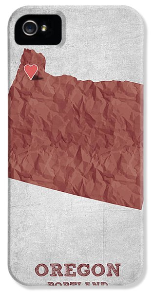 I Love Portland Oregon- Red IPhone 5 Case by Aged Pixel